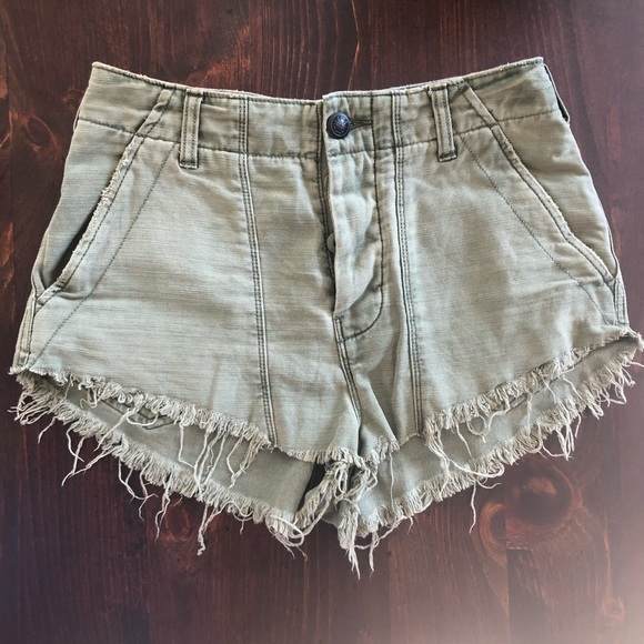 Free People Pants - Free People High Rise Button Front Cut-Offs